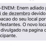 Nova lista de locais afetados pelo adiamento do Enem sai na sexta